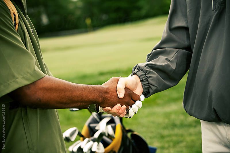 Golf: Agreeing on Business at Golf Course by Sean Locke for Stocksy United
