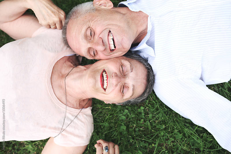 Portrait of a happy elderly couple by Jovana Rikalo for Stocksy United