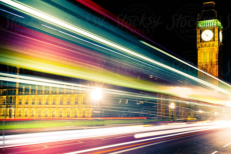 London at night by Kirstin Mckee for Stocksy United