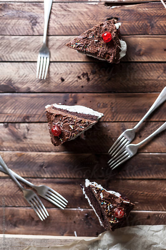 Chocolate cake. by Darren Muir for Stocksy United