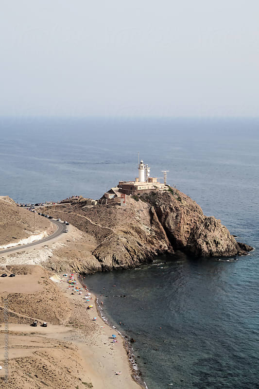 Lighthouse in Cabo de Gata, Almeria, Spain by Bisual Studio for Stocksy United