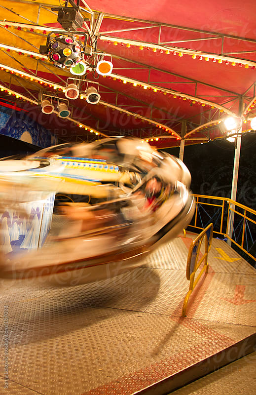 amusement park spin by Sonja Lekovic for Stocksy United
