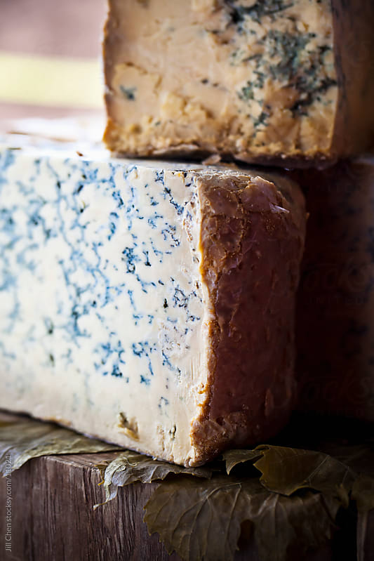 Blue Cheese Block by Jill Chen for Stocksy United
