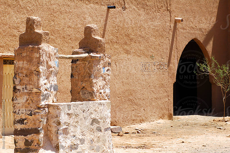 Well in a fortified mudbrick kasbah in the Draa Valley, Morocco by Bisual Studio for Stocksy United