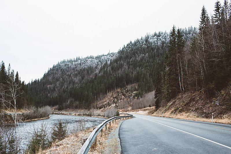 On the road in Norway by Sophia van den Hoek for Stocksy United