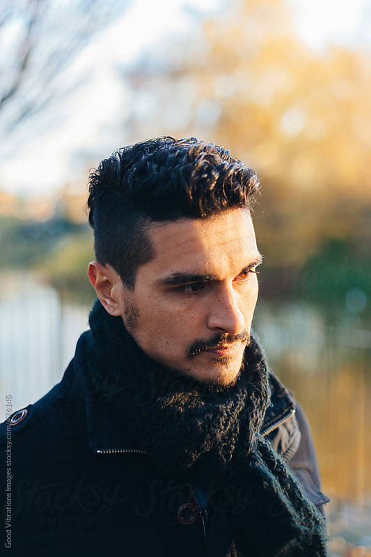 Man Portrait at the Park by Good Vibrations Images for Stocksy United