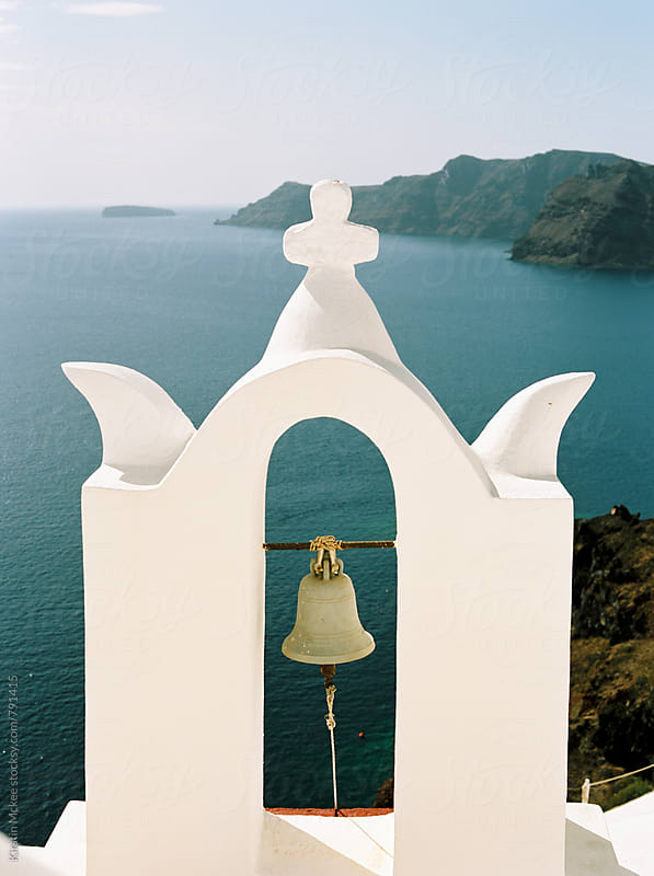 Bell Tower in Santorini, Greece by Kirstin Mckee for Stocksy United
