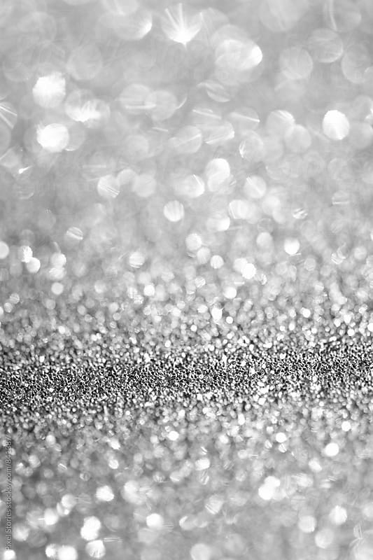 White glitter with shallow depth of field by Pixel Stories for Stocksy United