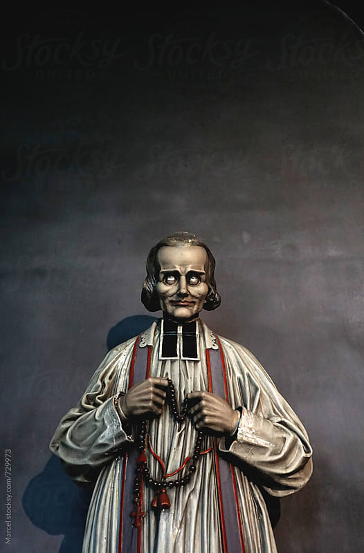 Religious statue in a church by Marcel for Stocksy United