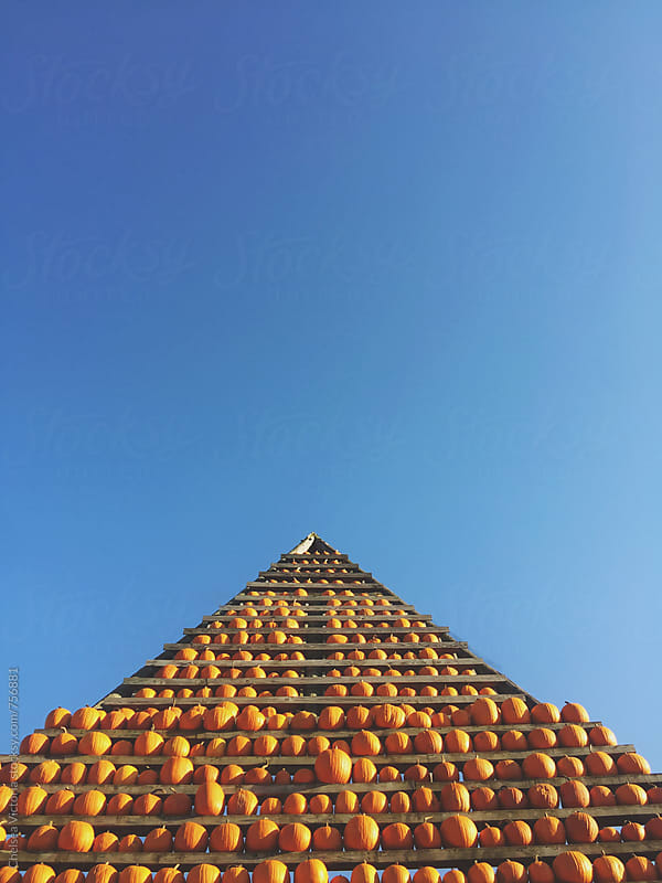 A pumpkin pyramid by Chelsea Victoria for Stocksy United