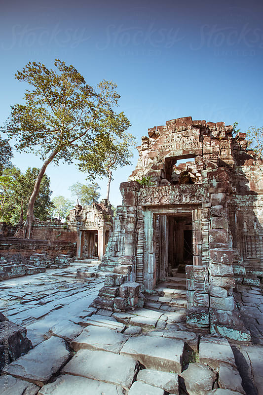 Preah Khan Temple in Angkor, Cambodia by Micky Wiswedel for Stocksy United