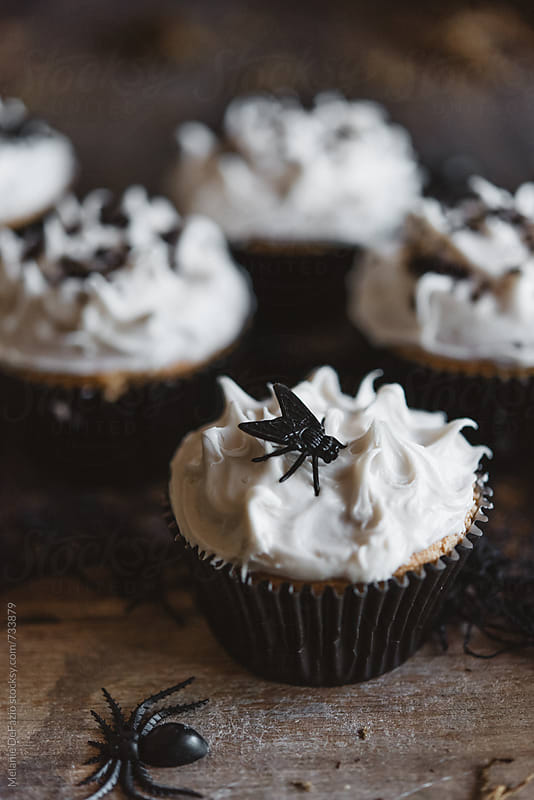 halloween cupcakes by Melanie DeFazio for Stocksy United