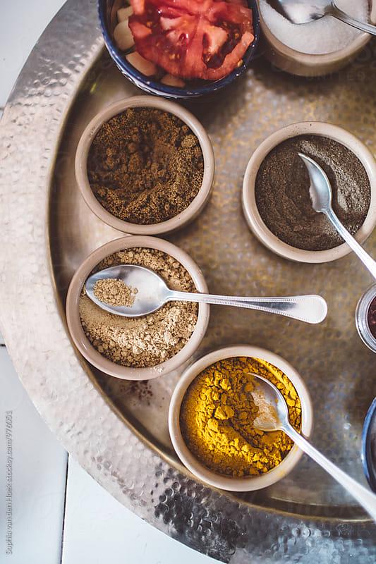 Cooking Moroccan food by Sophia van den Hoek for Stocksy United