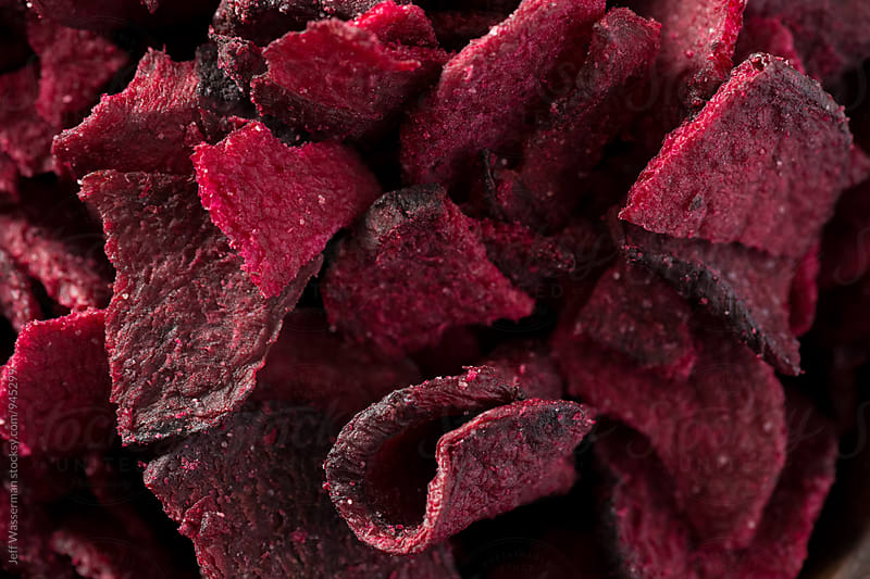 Beetroot Chips in Closeup by Jeff Wasserman for Stocksy United