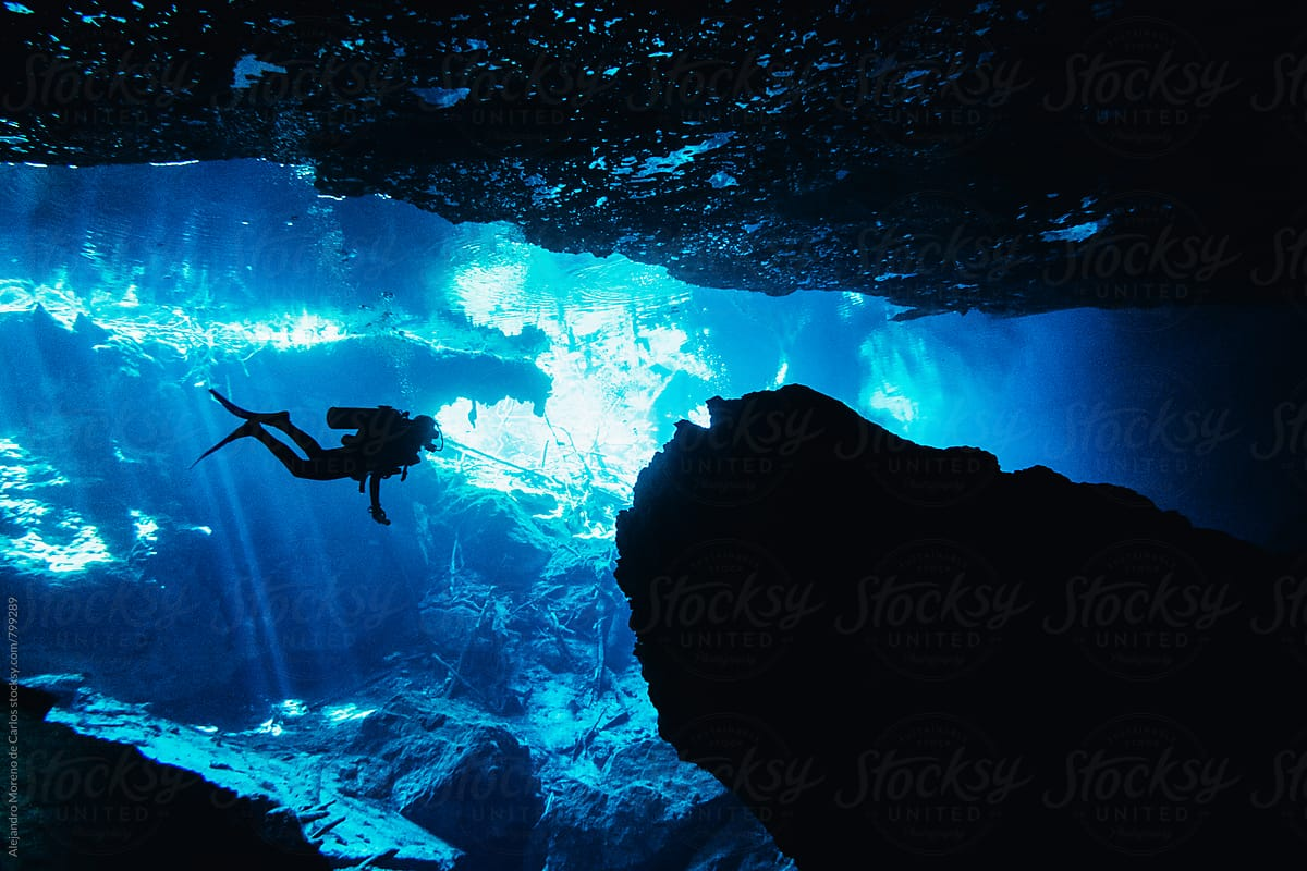 Image result for Cave diving, Yucatan Peninsula, Mexico