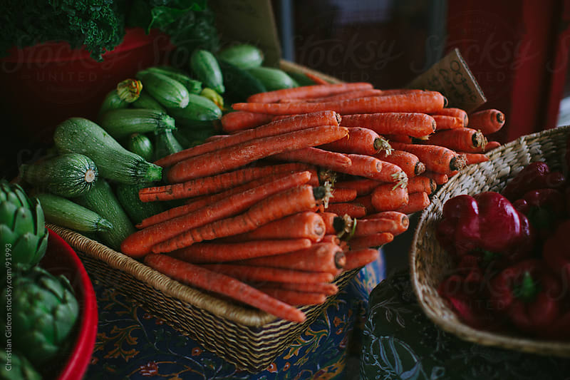 Farmer's Market Carrots by Christian Gideon for Stocksy United