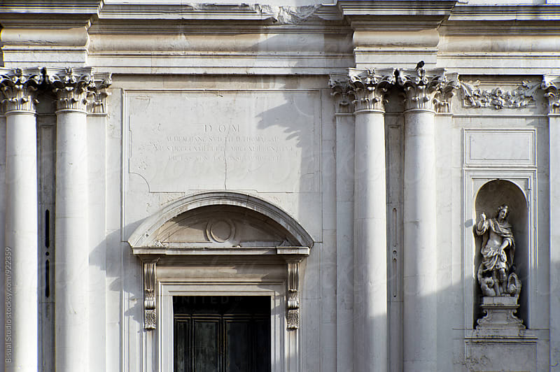 Assymetrical neo-classical facade by Bisual Studio for Stocksy United