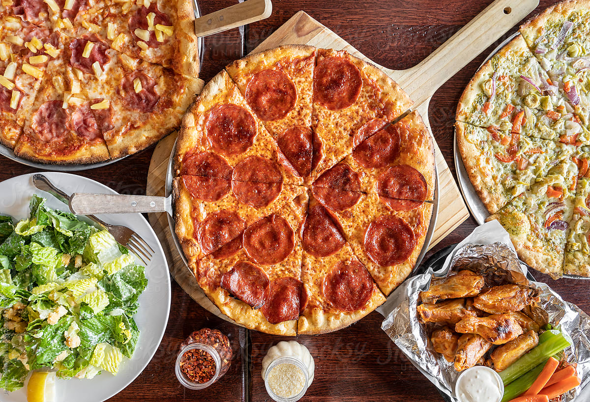 Image result for pizza and salad