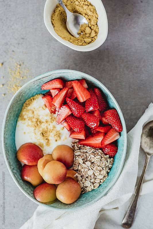 Muesli with fruits by Tatjana Zlatkovic for Stocksy United
