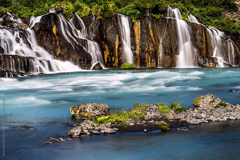 Idyllic Waterfall Scenery by Andreas Wonisch for Stocksy United