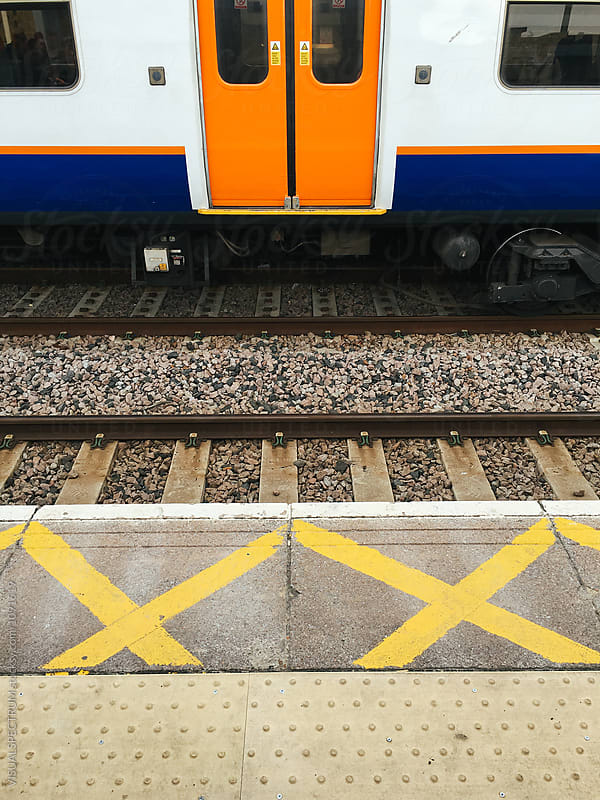 Detail of London Overground Train and Station by VISUALSPECTRUM for Stocksy United