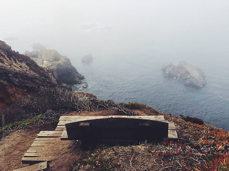 Bench at Big Sur by Christian Gideon for Stocksy United