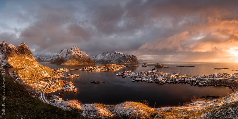 Views of Lofoten Islands at sunrise. Norway by Guille Faingold for Stocksy United