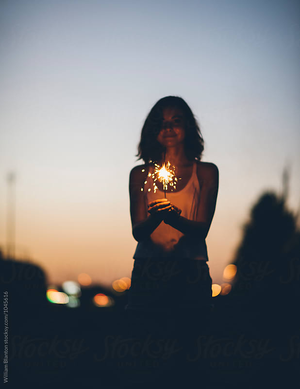 Independence Day Sparklers by William Blanton for Stocksy United