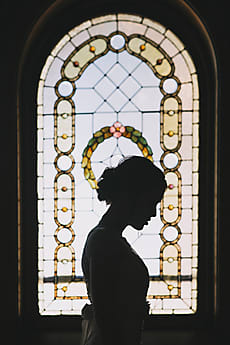 Image result for christians, stained glass, silhouette