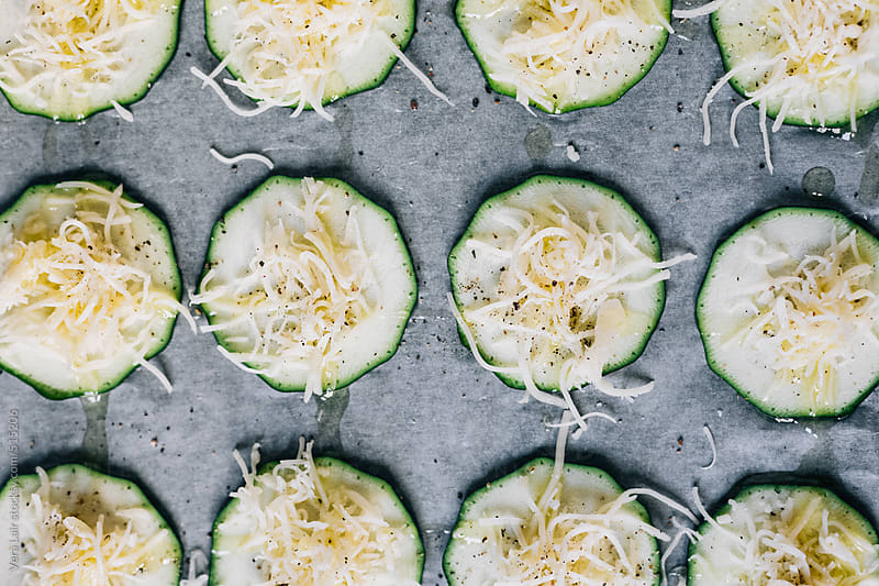 Zucchini sliced by Vera Lair for Stocksy United