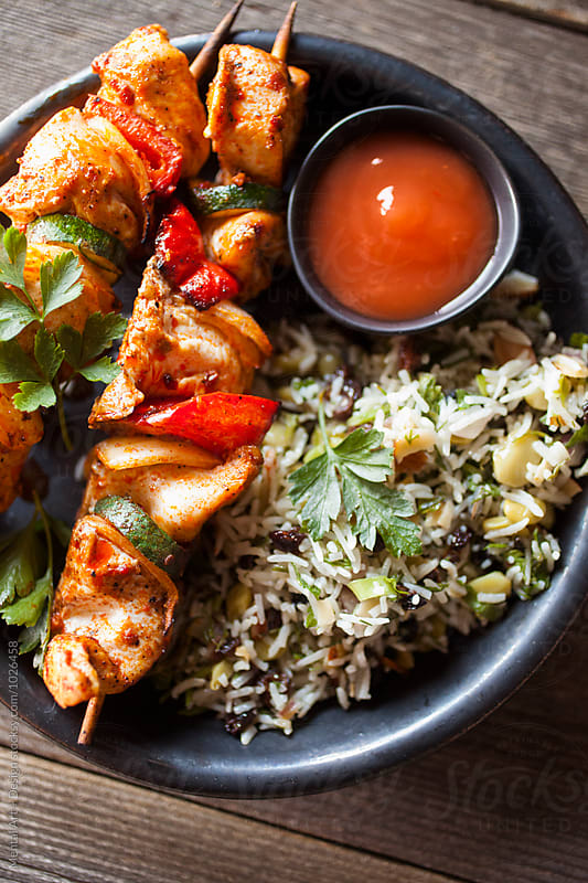 Chicken Shish Kabob by Mental Art + Design for Stocksy United