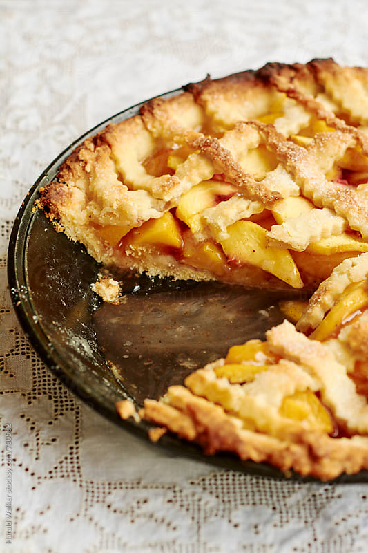 Southern Lattice Top Peach Pie by Harald Walker for Stocksy United