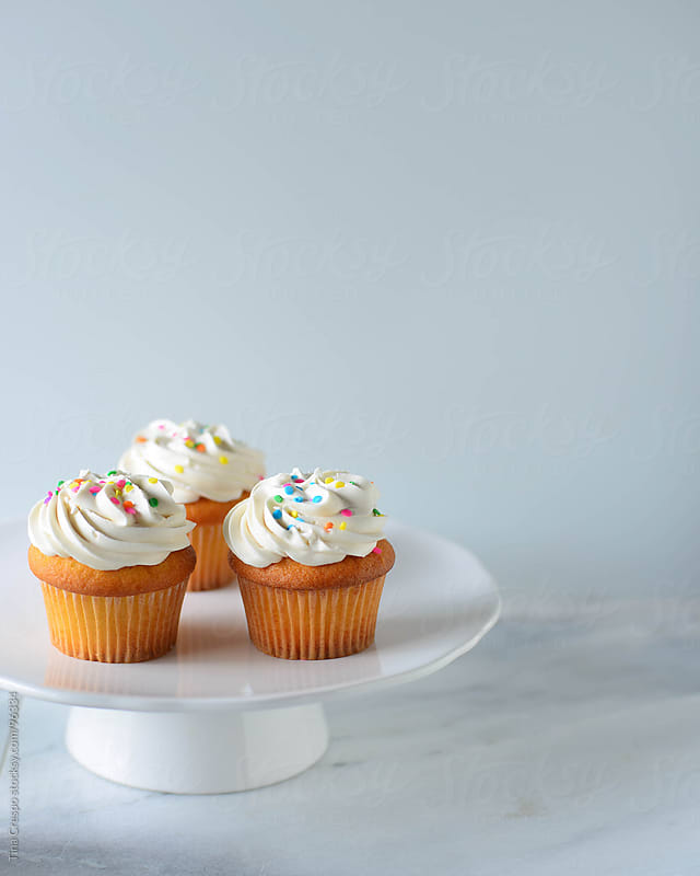 Three Cupcakes by Tina Crespo for Stocksy United