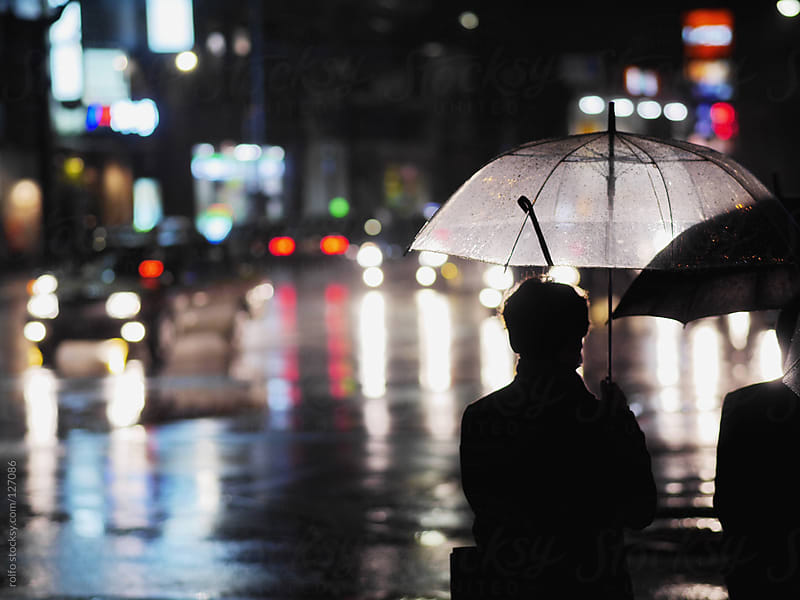 Rainy night in Tokyo by rolfo for Stocksy United