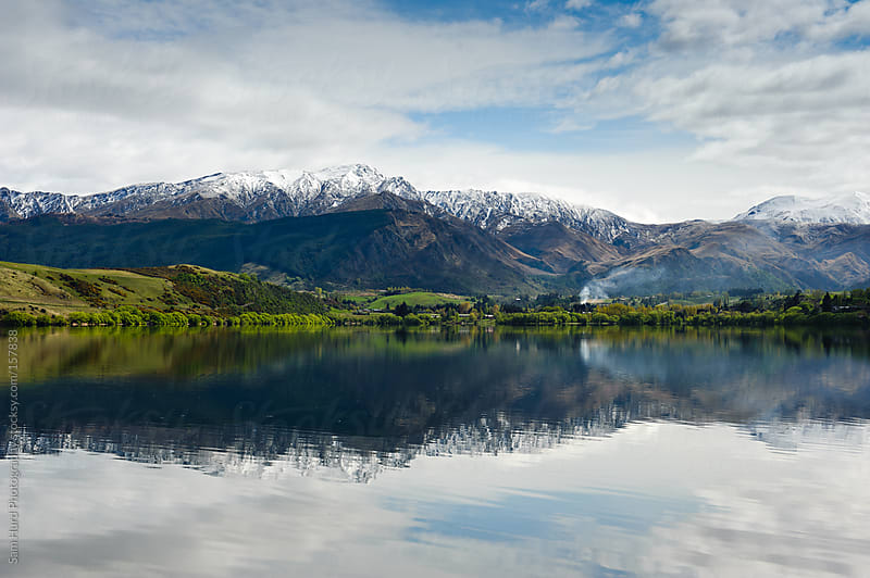 Queenstown Mountains at Lake by Sam Hurd Photography for Stocksy United