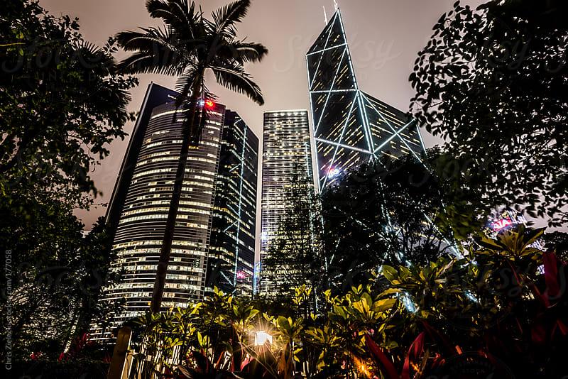 night skyline by Christian Zielecki for Stocksy United