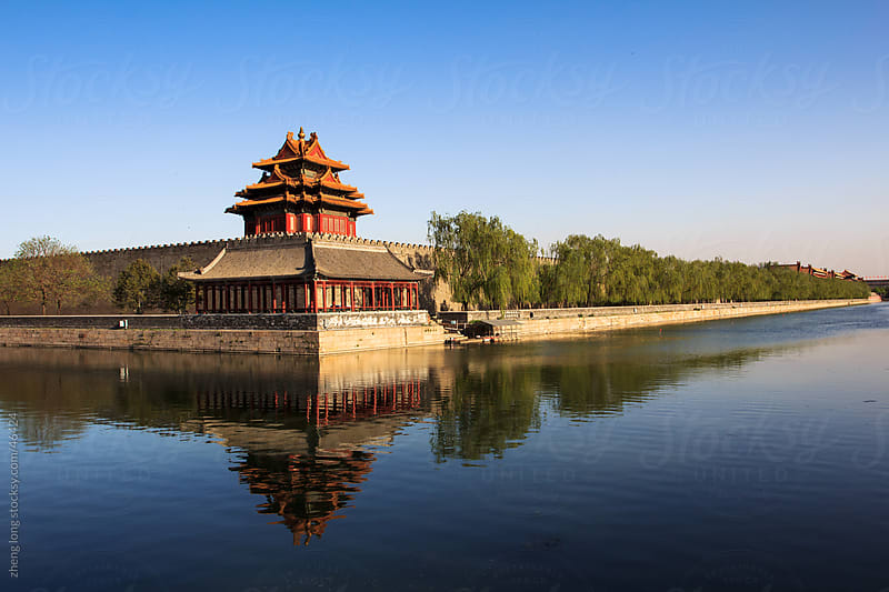 The Forbidden City and moat,Beijing by zheng long for Stocksy United
