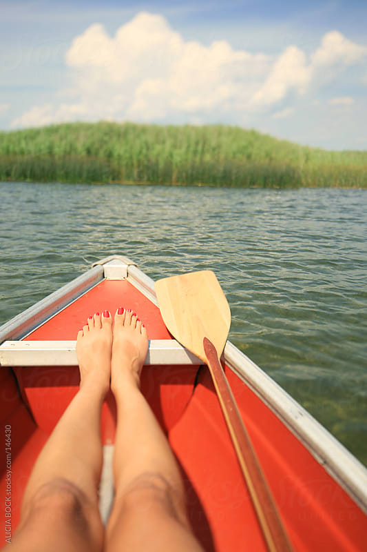 Resting While In a Canoe - Vertical by ALICIA BOCK for Stocksy United
