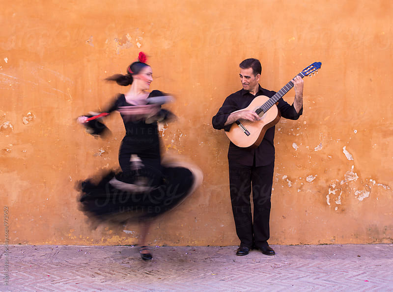 Flamenco Dancer and Guitarist. Spain. by Hugh Sitton for Stocksy United