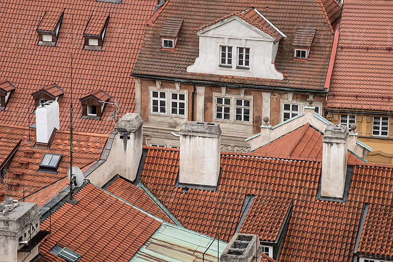 Red Rooftops in Prague by Melanie Kintz for Stocksy United