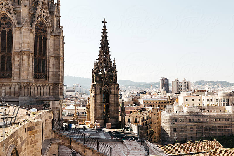 The view from the top of Barcelona Cathedral by Kristen Curette Hines for Stocksy United