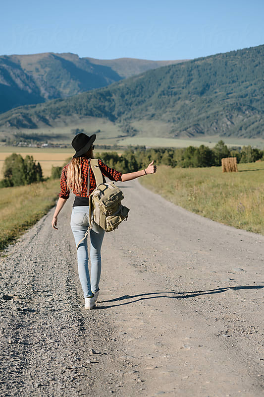 Hitchhiking by Milles Studio for Stocksy United