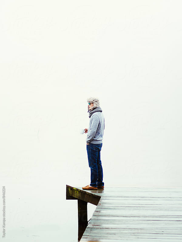 Foggy Morning on the Dock by Taylor Kampa for Stocksy United