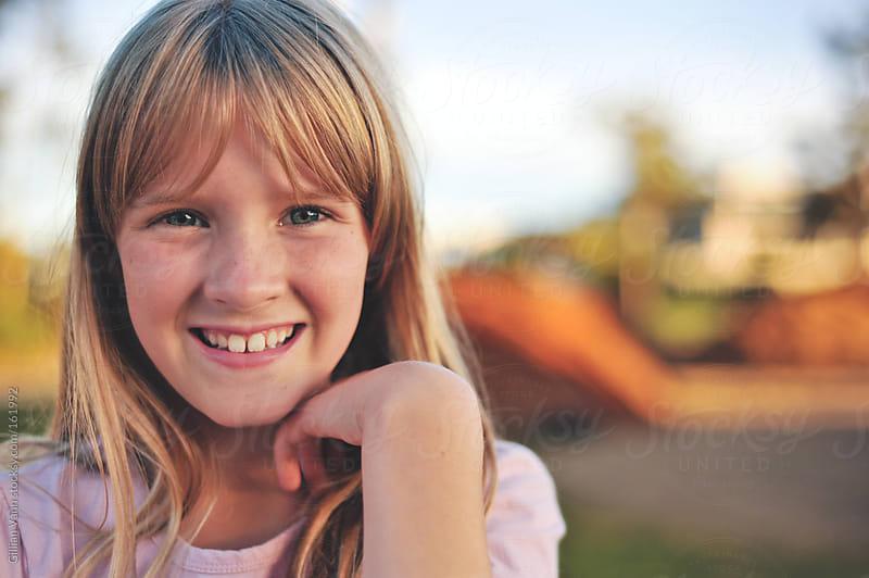 tween girl portrait by Gillian Vann for Stocksy United