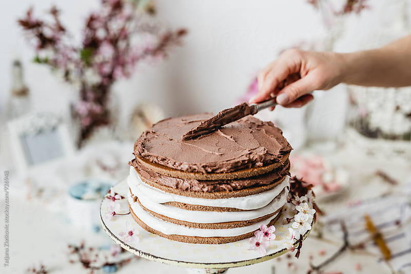 Making spring cake by Tatjana Zlatkovic for Stocksy United