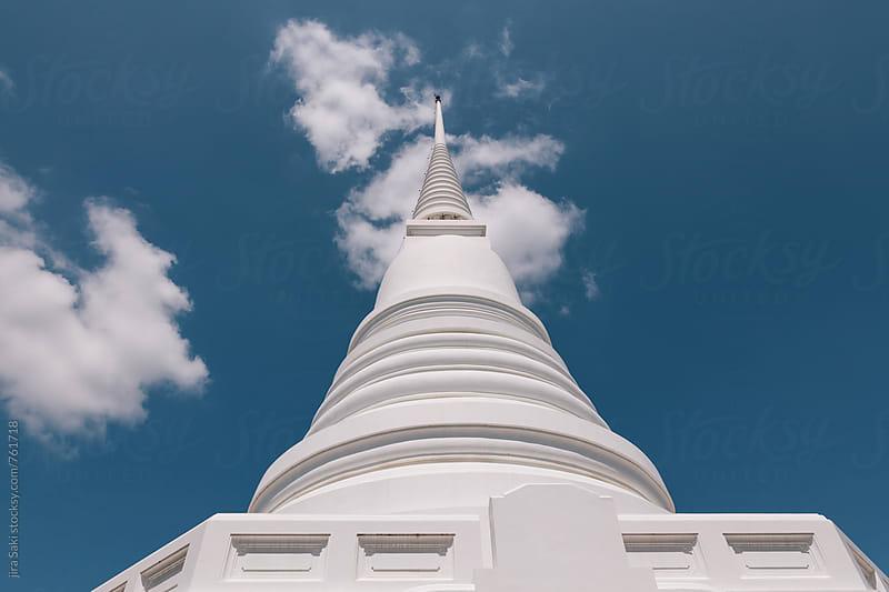 white pagoda by jira Saki for Stocksy United