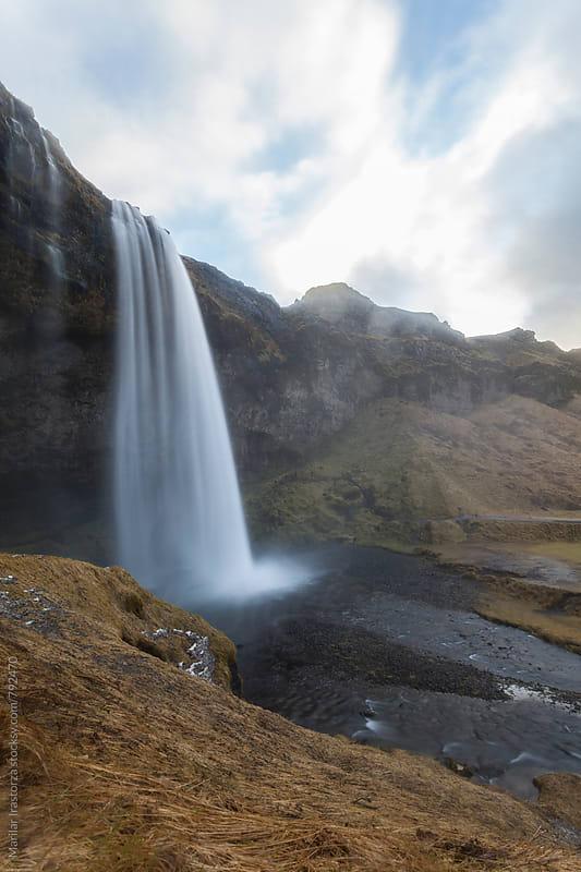 Seljalandsfoss Waterfall by Marilar Irastorza for Stocksy United