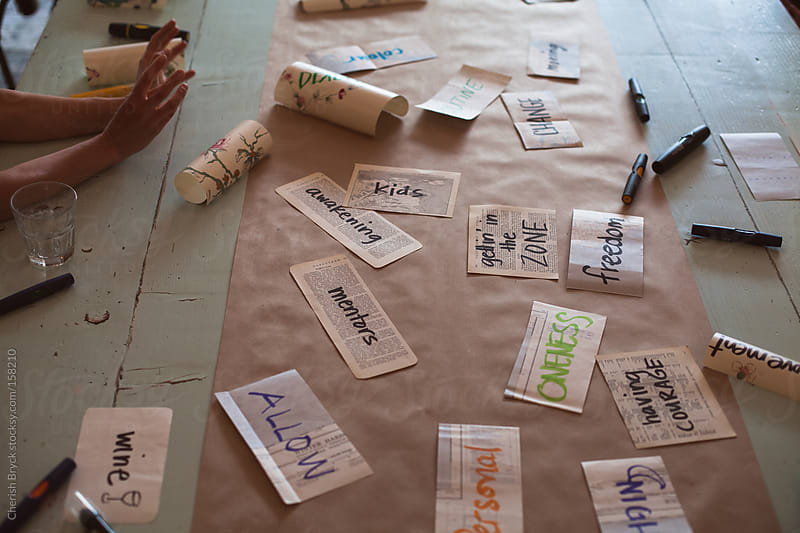 Brainstorm with words. by Cherish Bryck for Stocksy United