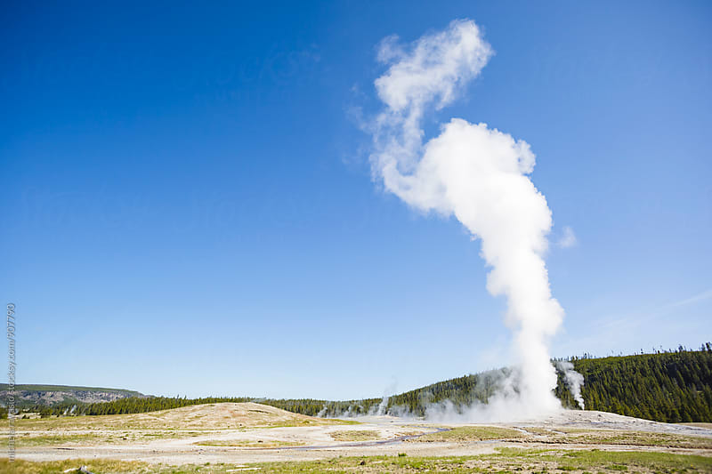 Old Faithful Geyser in the Yellowstone National Park by michela ravasio for Stocksy United