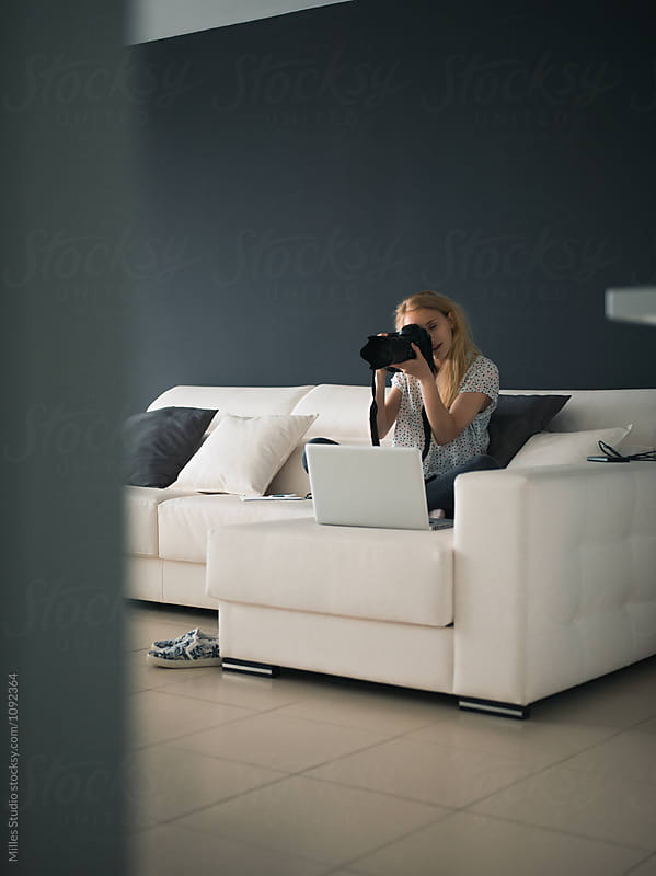 Photographer working at home by Milles Studio for Stocksy United